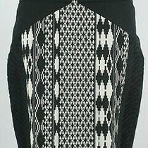 Anthropologie Floreat Pintucked Arpeggio Pencil Skirt Black Size 6 Photo