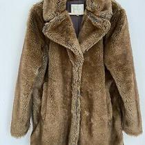 Anthropologie Furry Coat Size 38 Selected Femme Brown Faux Fur. Photo