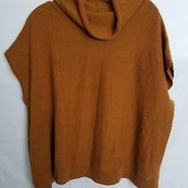 Anthropologie Gold Cashmere Cap Sleeve Sweater Sz S Photo