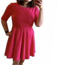 Anthropologie Greylin Hot Pink Fit and Flare Dress M Photo