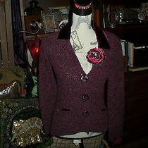 Anthropologie Guinevere Enchanting Violet Cardigan Size S Photo