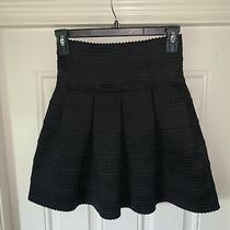 Anthropologie Gurls From Savoy Fit & Flare Black Skirt Size Xs/small Photo
