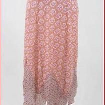 Anthropologie Hanky Skirt Handkerchief Hem Artsy Wearable Art by Odille Size 4 Photo