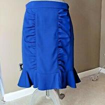 Anthropologie Hd in Paris Woman Size 8 Blue Pencil Skirt  Photo