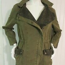 Anthropologie Hei Hei Hooded Jacket Green W/lace Accent Size Xs Photo