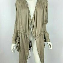 Anthropologie Hei Hei Morgan Utility Jacket Tan Open Front Long Sleeve Women S Photo