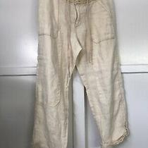 Anthropologie Hei Hei Paleyellow 100% Linen Pants Crotched Waist Sz 30 Euc Photo