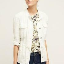 Anthropologie Hei Hei Sz Medium Petite Breakaway Jacket Ivory Cotton Pockets New Photo