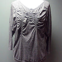 Anthropologie Hinge Womans Gray Knit Top / Shirt  Size M Photo