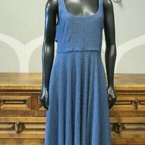 Anthropologie Hutch Women's Olivia Slate Blue Eyelet Knit Dress Size M Photo