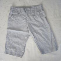 Anthropologie Idra 100% Linen Light Blue Bermuda Pants Size 4 / W31 Photo