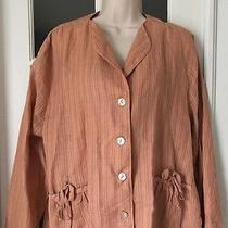 Anthropologie Johnny Was Collection Women's Sz L Linen Blush Jacket Photo