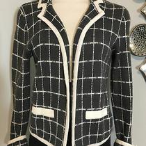 Anthropologie Kimchi Blue Sz M Off White & Slate Grey Sweater Jacket  Photo