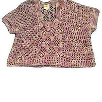 Anthropologie Knot Sweater Purple Size Medium Brand Augsen  Photo