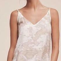 Anthropologie Lacausa Size Xs Gabardia Camisole Tank Top Beige Hand Dyed New Nwt Photo