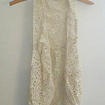 Anthropologie Lace Vest Nwot Photo