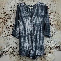 Anthropologie Ladies Cloth and Stone Shorts Romper Jumpsuit Sz M Tie Dye  Photo