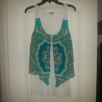 Anthropologie Leifnotes Parted Paisley Tank Top Blouse Sleeveless Size L Photo