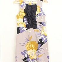 Anthropologie Leifsdottir Quarry Lake Silk/cotton Floral Dress  Sz 2 Photo