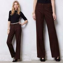 Anthropologie Leifsdottir Soft Flannel Jacquard Marola Wide-Leg Pants M 6 Photo