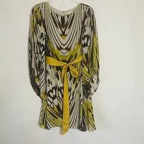 Anthropologie Leifsdottir  Womens Dress Swing Boho Brown Cream Yellow Lined Photo