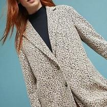 Anthropologie Leopard Knit Blazer Coat by Cartonnier Nwt Sz. M Photo