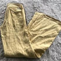 Anthropologie Level 99 Yellow Mid Rise Button Pocket Wide Leg Pants Womens 25 Photo