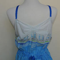 Anthropologie Lilka M Sun Dress Chemise Poolside Lounging Chairs Ocean Hues Nwt Photo