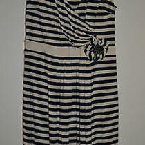 Anthropologie Little Yellow Button Perilla Dress Size Medium Nautical Dress Photo