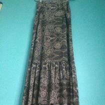 Anthropologie Lot Imprint Fossil Silk Maxi Skirt and Green Harem Pants Xs- S Photo