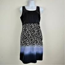 Anthropologie Maeve Dress M 100% Silk Blue Ombre Sleeveless Above Knee Lined Photo