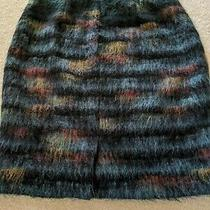 Anthropologie Maeve Pencil Skirt Size 8 Feathered Wool Photo