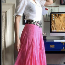 Anthropologie Maeve Pink Beachy Airy Skirt Size 2 Nwt 140.00 Photo