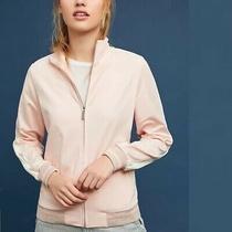 Anthropologie Maeve Sz Xs Pink Striped Track Jacket Shimmer Glitter Photo