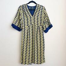 Anthropologie Maeve Yellow Blue Geometric Dress Size 0 Photo