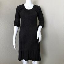 Anthropologie Maple Sweater Dress Size Xs Cable Knit Gray Long Sleeve Angora  Photo
