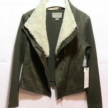 Anthropologie Marrakech Moto Jacket Size Xs Removable Sherpa Army Green Photo