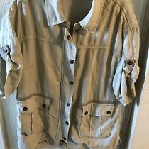 Anthropologie Marrakech Women Short Sleeve Woven Jacket Size S Beige Zipper Photo