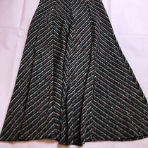 Anthropologie Maxi Skirt Metallic Thread Festive Shiny Gold Size Xs Photo