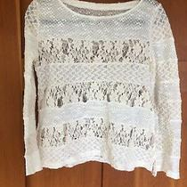 Anthropologie Meadow Rue Top Sweater Lace Xs Photo