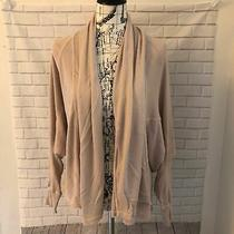 Anthropologie Michael Stars Ribbed Draped Cardigan Blush Pink One Size Os Photo