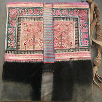 Anthropologie Momo Clutch Bag Purse Gray Pink  Photo