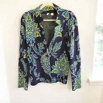Anthropologie Moth Blue and Green Blazer Cardigan Size Small Photo