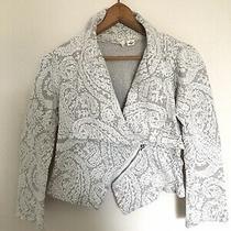 Anthropologie Moth Cream Paisley Sweater Jacket Size S Photo