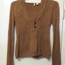 Anthropologie Moth Daisy Pattern Light Cotton Hoodie Knit Top Size M 148 Photo