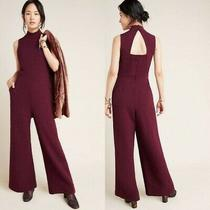 Anthropologie Nwt Charley Mock Neck Jumpsuit/smll/plum Photo
