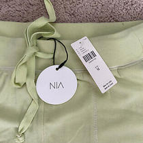 Anthropologie Nwt Nia Lime Green Soft Knit Jogger Pants Sz M Photo