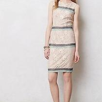 Anthropologie Nwt Rosegold Lace Shift Dress Maeve Nude Lace Open Back Sz L 138 Photo