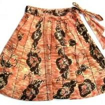 Anthropologie Odille Floral Fossil Skirt W/sequins 2 Photo