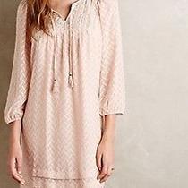 Anthropologie One September Anwen Peasant Dress Size M 8 10 Blush Pink Photo